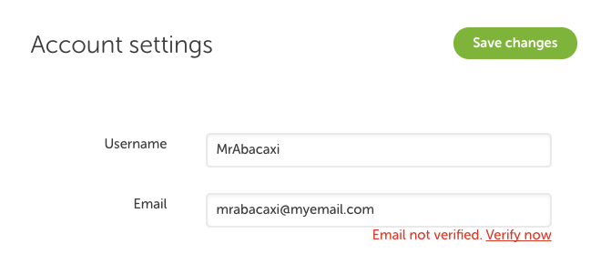 how do i correct my email address on my iphone