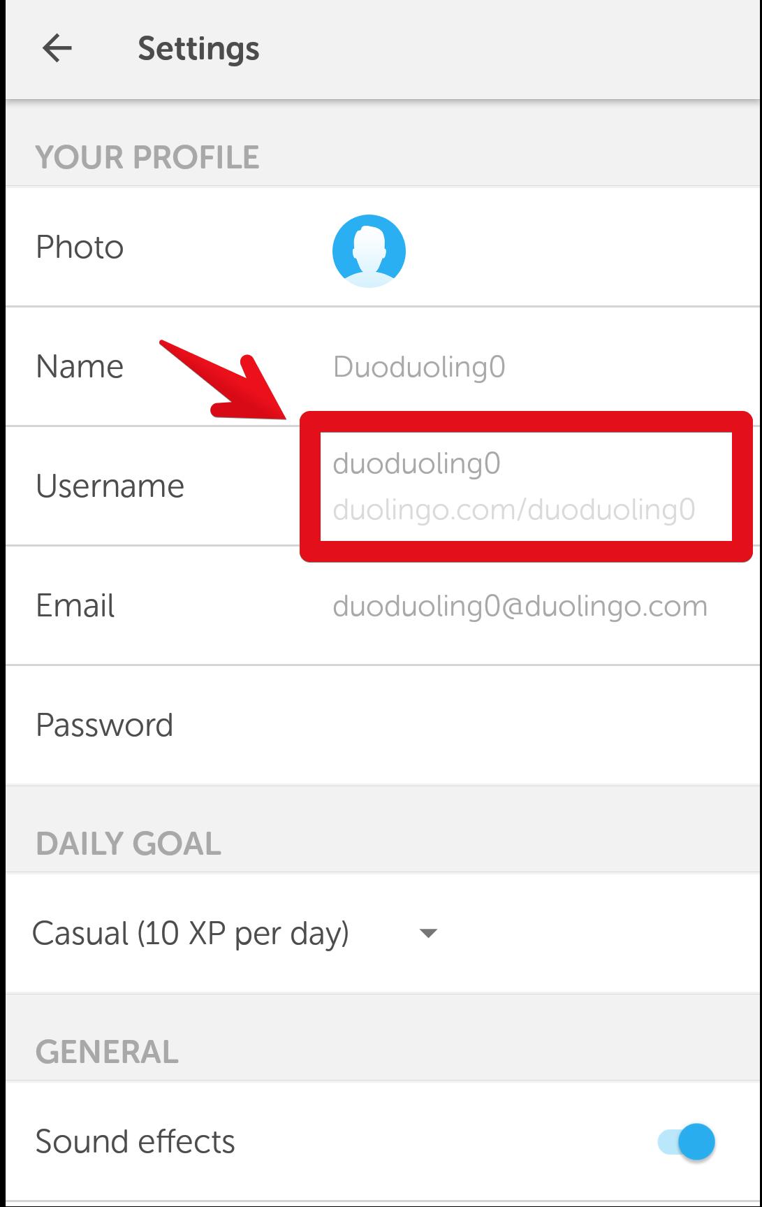 how to change name on duolingo
