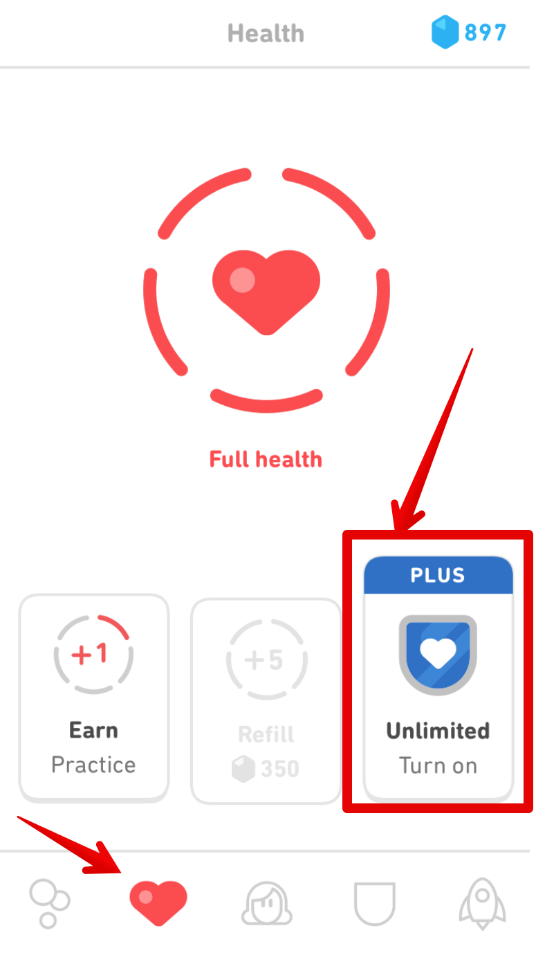 How do I enable the Health/Hearts Shield? – Duolingo Help Center