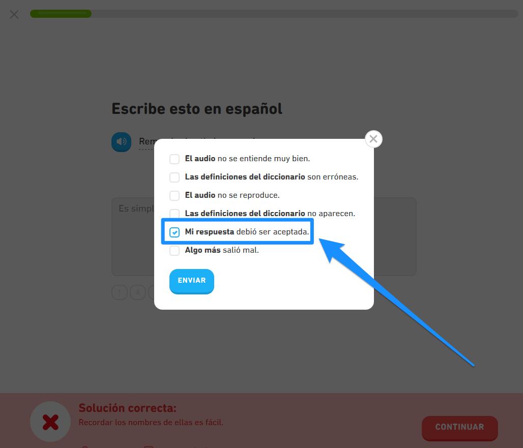 Cómo reporto un problema con una oración o traducción? – Centro de Ayuda de  Duolingo