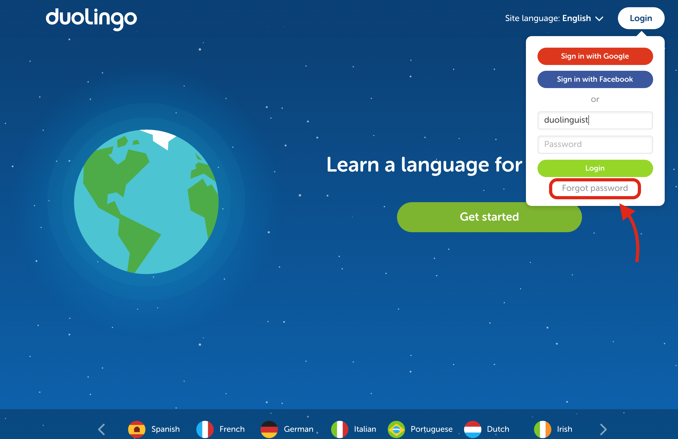 I can't access my account or reset my password! – Duolingo